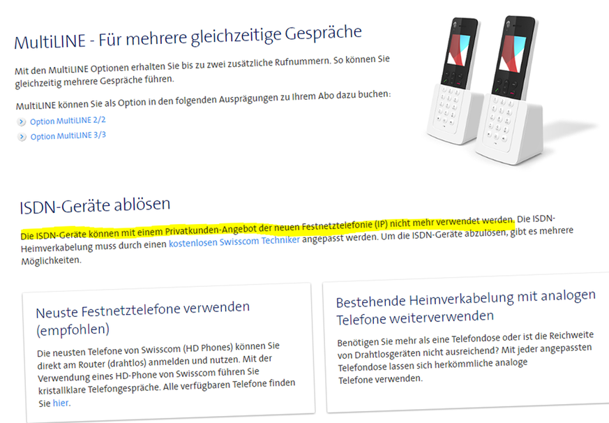 Mit altem Swisscom ISDN-Telefon übers Internet telefonieren. Ja, das ...