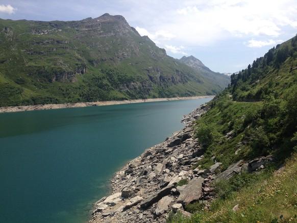 2012 wurde der See zur Revision ganz geleert. Bis 2017 füllt er sich jetzt wieder.