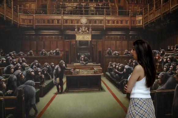 Sotheby's - Banksys Schimpansen-Gemälde für 11 Millionen Euro verkauft