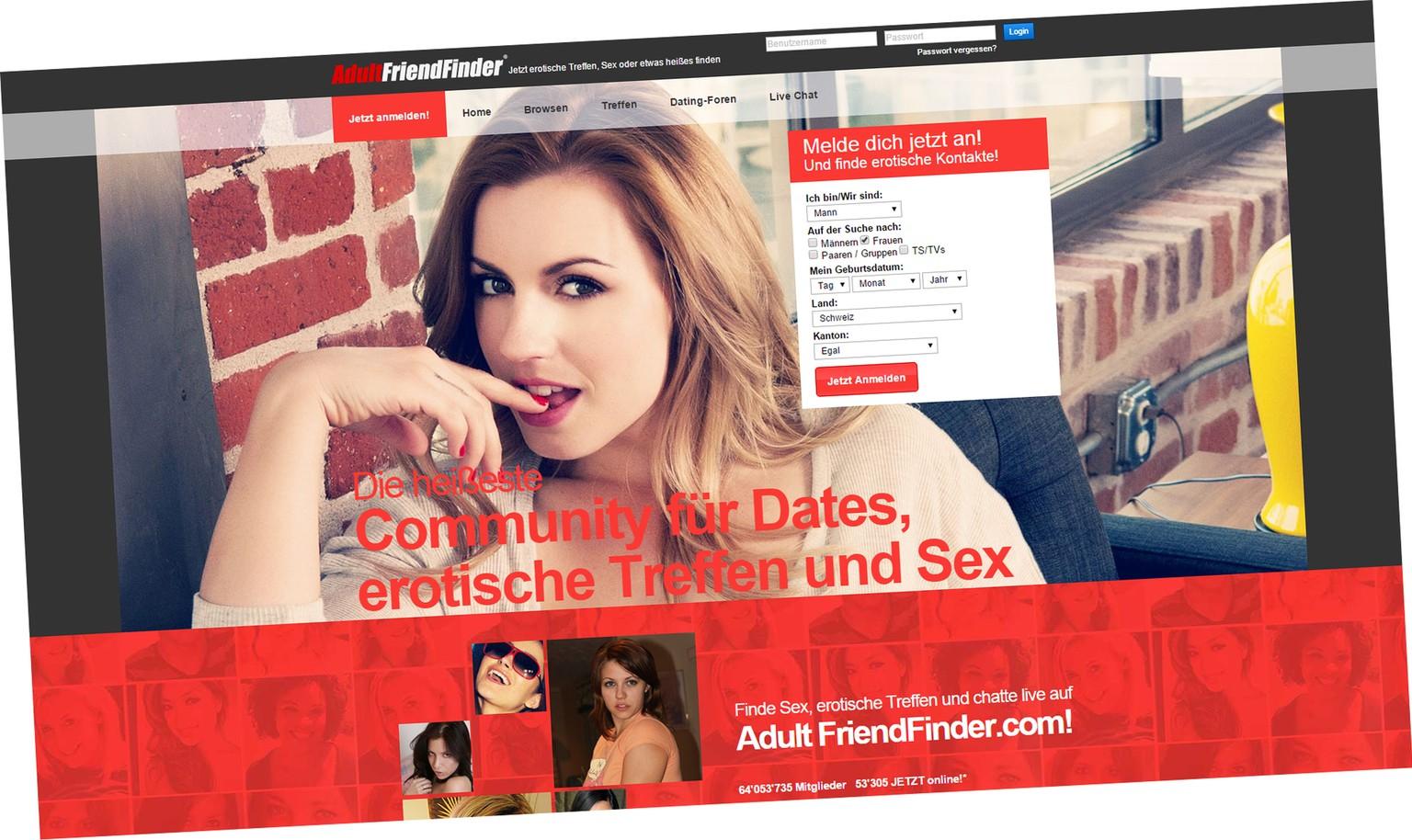 Sex kontaktanzeigen adult friend finder anmelden
