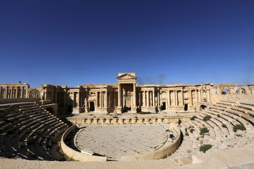 FILE PHOTO A view shows the Roman Theatre in the historical city of Palmyra, in Homs Governorate, Syria April 1, 2016. REUTERS/Omar Sanadiki/File Photo
