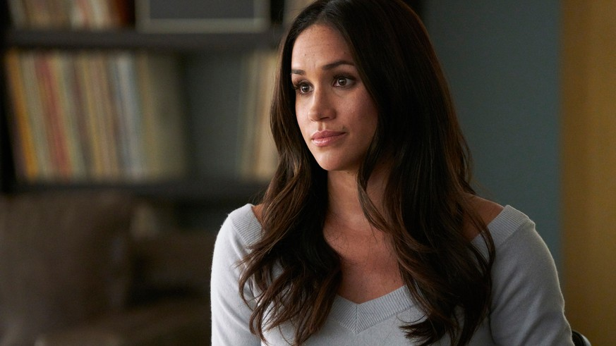 ZUR HOCHZEIT VON PRINZ HARRY UND MEGHAN MARKLE AM SAMSTAG, 19. MAI 2018, STELLEN WIR IHNEN FOLGENDES BILDMATERIAL ZUR VERFUEGUNG -  In this image released by USA Network, Meghan Markle appears in a scene from