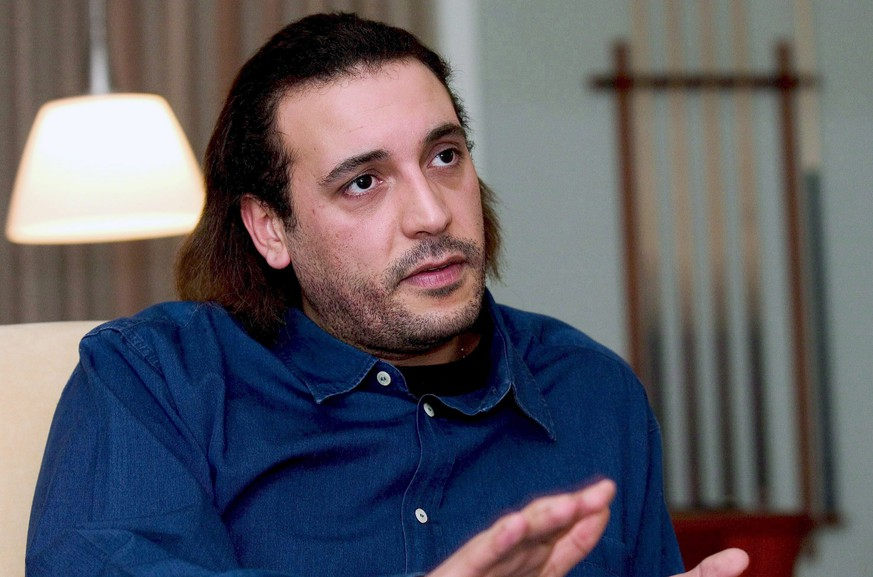 epa05065766 (FILE) A file picture dated 16 February 2005 shows Hannibal Gaddafi, son of late Libyan leader Muammar Gaddafi, in his residence in Copenhagen, Denmark. According to media reports quoting security sources on 12 December 2015, Hannibal Gaddafi, 40, who has been living in Oman in exile since the ousting of his father, has been freed after being temporarily kidnaped by gunmen in Lebanon on 11 December.  EPA/MORTEN JUHL DENMARK OUT