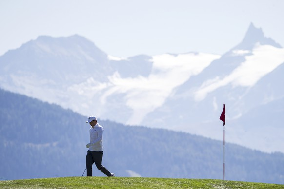 ARCHIVBILD ZUM SDA-TEXT ZUM EUROPEAN GOLF MASTERS CRANS-MONTANA, MONTAG, 4. MAI 2020 - Matthew Fitzpatrick of England reacts during the third round of the Omega European Masters Golf Tournament in Crans-Montana, Switzerland, Saturday, September 8, 2017. (KEYSTONE/Alexandra Wey)