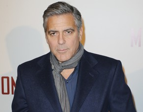 US Actor George Clooney  arrives for the French Premiere of