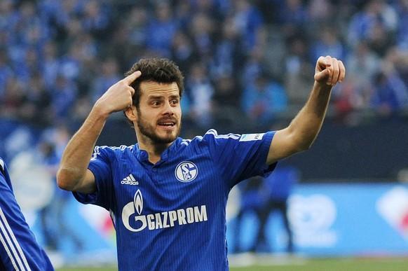 07.03.2015; Gelsenkirchen; Fussball 1. Bundesliga - FC Schalke 04 - TSG 1899 Hoffenheim; Tranquillo Barnetta ( Schalke) nach Spielende (Thienel/Expa/freshfocus)
