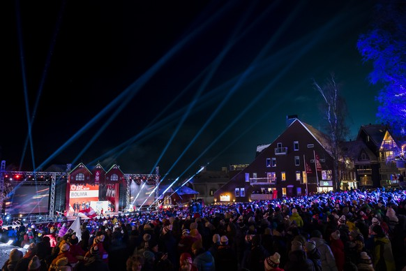 A general view during the opening ceremony at the 2019 FIS Alpine Skiing World Championships in Are, Sweden Monday, February 4, 2019. (KEYSTONE/Jean-Christophe Bott)