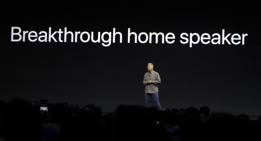 So tönte es an Apples HomePod-Präsentation im vergangenen Sommer...  Bild AP
