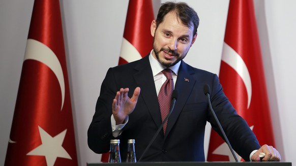 Berat Albayrak, Turkey's Finance and Treasury Minister, son-in-law of President Recep Tayyip Erdogan, speaks about a