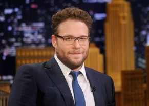 "NEW YORK, NY - MAY 06:  Seth Rogen Visits ""The Tonight Show Starring Jimmy Fallon"" at Rockefeller Center on May 6, 2014 in New York City.  (Photo by Jamie McCarthy/NBC/Getty Images  for ""The Tonight Show Starring Jimmy Fallon"")"
