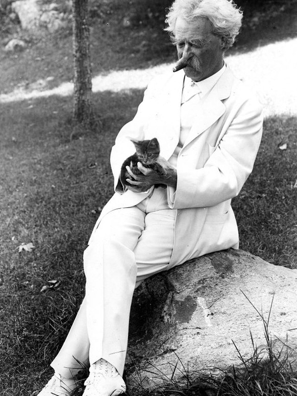 "Samuel Clemens, better known as Mark Twain, is referenced in libraries across the world, and, while ranking his best works may keep literary critics busy, his preference in pets is unmistakably cut-and-dry.Mark Twain liked cats more than he liked people.""If man could be crossed with the cat,"" he wrote, ""it would improve man, but it would deteriorate the cat.""Twain had, count them, at least 32 cats, whose names were perhaps even more impressive than their master's wit. Apollinaris, Beelzebub, Blatherskite, Buffalo Bill, Satan, Sin, Sour Mash, Tammany, Zoroaster, Soapy Sal and Pestilence. He loved them more than most humans and was confounded by humans who didn't love them back.""When a man loves cats, I am his friend and comrade, without further introduction."""