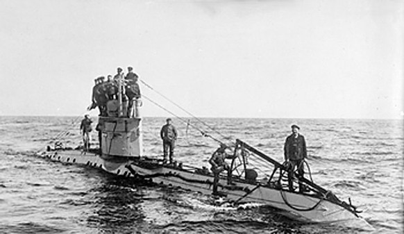 Erster Weltkrieg U-Boot Seekrieg (Wikipedia/PD)