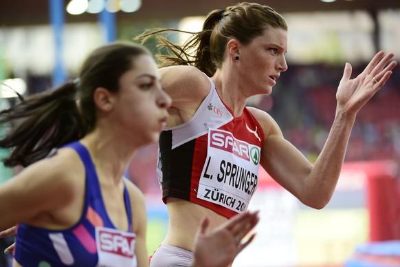14.Aug.2014; Zuerich; Leichtathletik - EM Zuerich 2014;Lea Sprunger (SUI) 200 Meter (Andy Mueller/freshfocus)