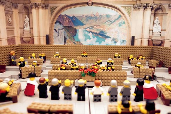 BRW15 Lego Nationalratssaal Vereidigung Bundesrat (und Bundeskanzler)
