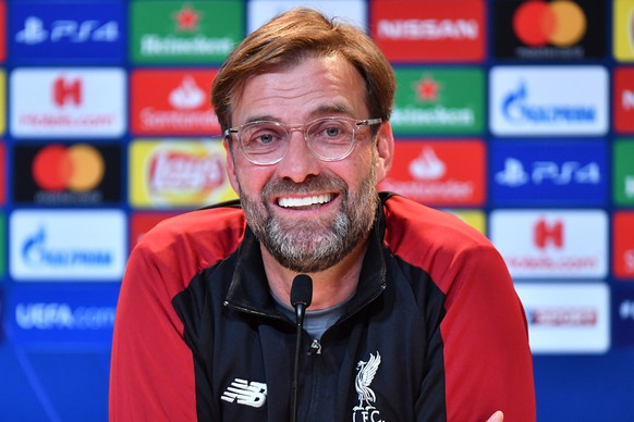 epa07432008 Liverpool's head coach Juergen Klopp addresses to media during a press conference in Munich, Germany, 12 March 2019. FC Liverpool will face Bayern Munich in an UEFA Champions League round of 16, second leg soccer match on 13 March 2019 in Munich.  EPA/LUKAS BARTH-TUTTAS