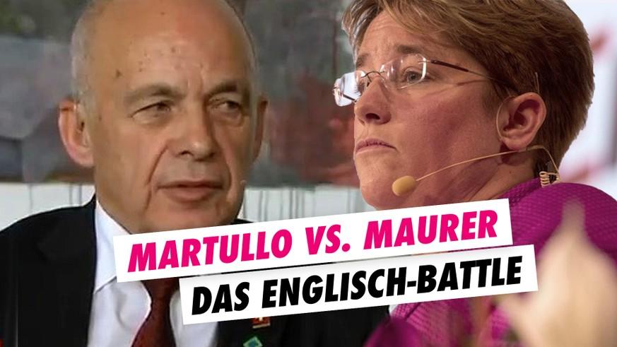 Ueli Maurer diskutiert mit Magdalena Martullo-Blocher - watson
