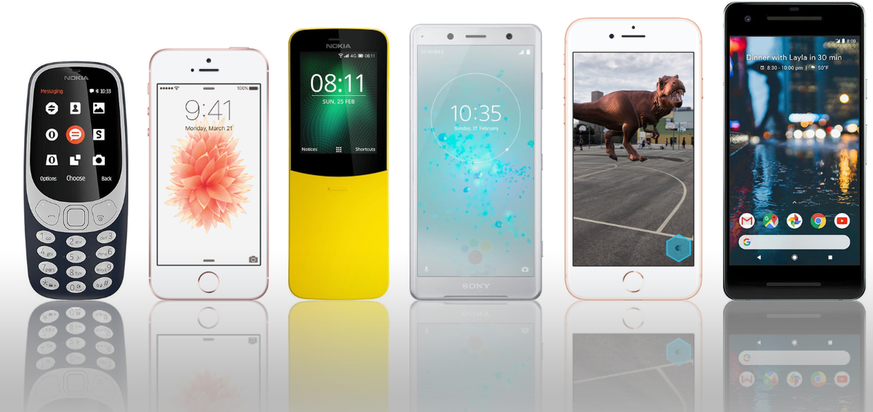 Einfach 10 kleine Smartphones, falls du gerade eines suchst