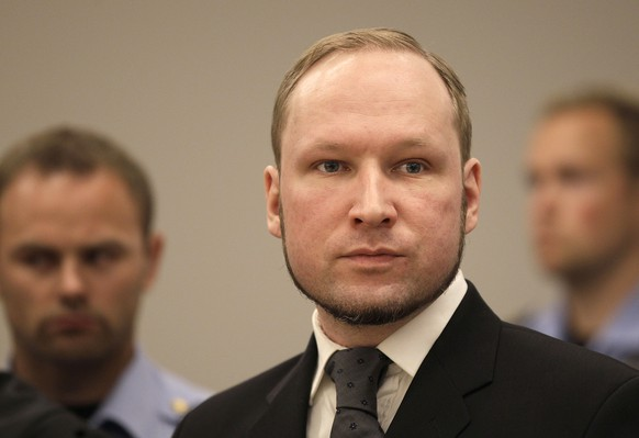 FILE - In this Friday, Aug. 24, 2012 file photo, Anders Behring Breivik listens to the judge in the courtroom, in Oslo, Norway. The University of Oslo says Friday July 17, 2015, convicted mass killer Anders Behring Breivik has been admitted to its political science program, adding the 36-year-old right-wing extremist would remain in his cell to study. (AP Photo/Frank Augstein, File)