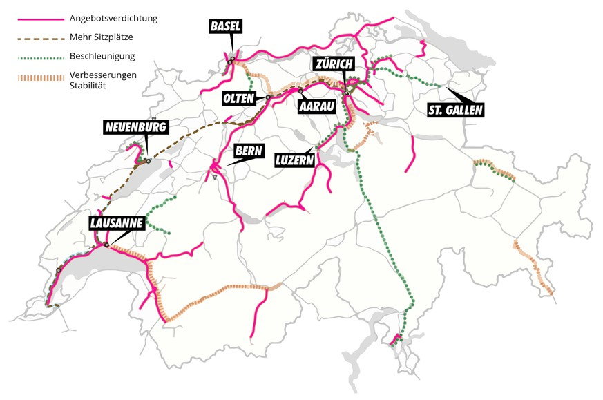 128 Milliarden Für Bahn Ausbau Diese 7 Grossprojekte Sind