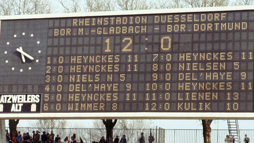Gladbach Dortmund 12 0