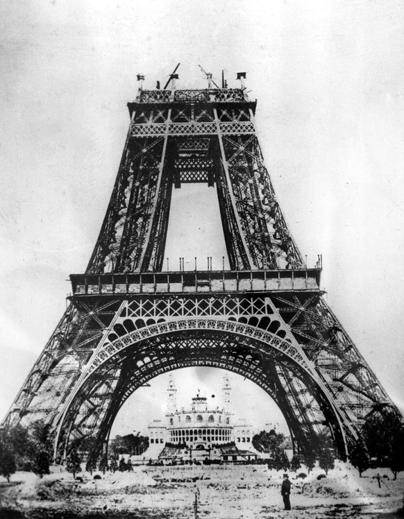 TO GO WITH STORY TITLED ENDURING EIFFEL This is an 1888 photo of the Eiffel Tower under construction in Paris, France, which was finished in 1889 for the Paris World Exhibition. Eiffel expected about 500,000  visitors a year, this year it drew six million. (AP Photo)