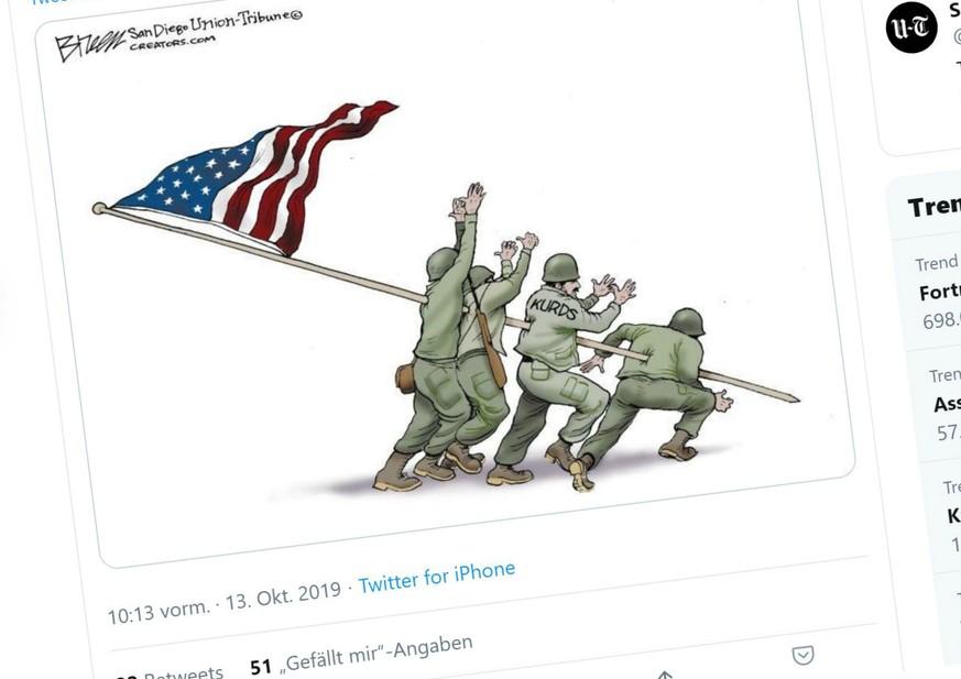 23 Cartoons, die Trumps übles Spiel mit den Kurden auf den Punkt bringen