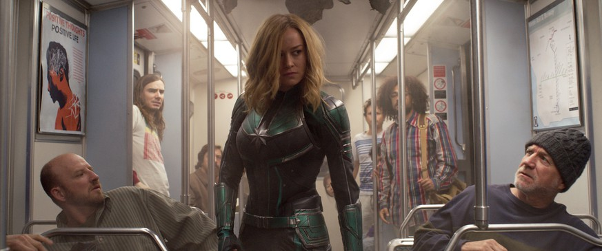 This image released by Disney-Marvel Studios shows Brie Larson in a scene from