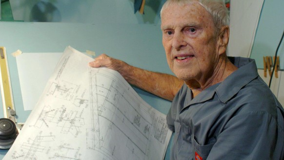 In this photo taken Sept. 2, 2008, engineer Oscar Carl Holderer, one of Wernher von Braun's original