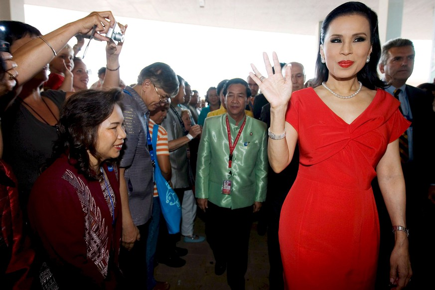 epa07351688 (FILE) - Princess Ubolratana Mahidol of Thailand waves to people during her visit to the Expo Zaragoza 2008, in Zaragoza, Aragon, Spain, 19 August 2008 (reissued 08 February 2019). According to media reports on 08 February 2019, Princess Ubolratana Mahidol of Thailand was nominated as a candidate for Prime Minister of Thailand by the Thai Raksa Chart political party.  EPA/JORGE ZAPATA