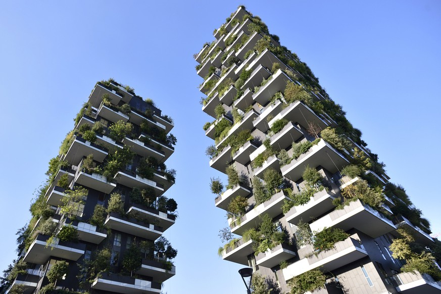 The Bosco Verticale (vertical forest) towers are seen in Milan, August 29, 2015. Long the ugly sister to Florence, Venice and Rome, Italy's business capital Milan is enjoying a renaissance, its once drab skyline coming to life and a new creative vibrancy emerging. Picture taken August 29, 2015. To match Feature ITALY-MILAN/      REUTERS/Flavio Lo Scalzo