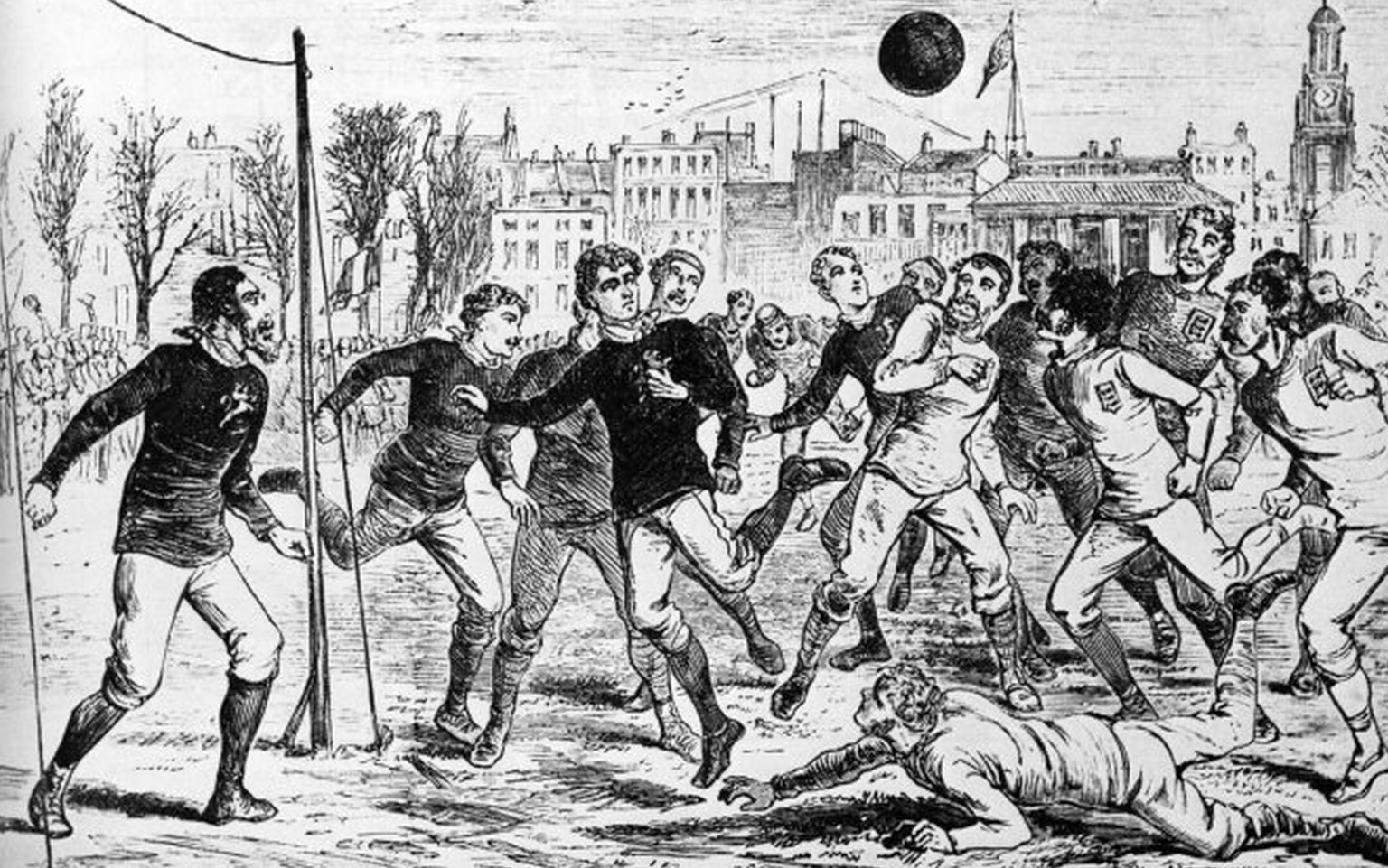 Action in the Scotland goalmouth