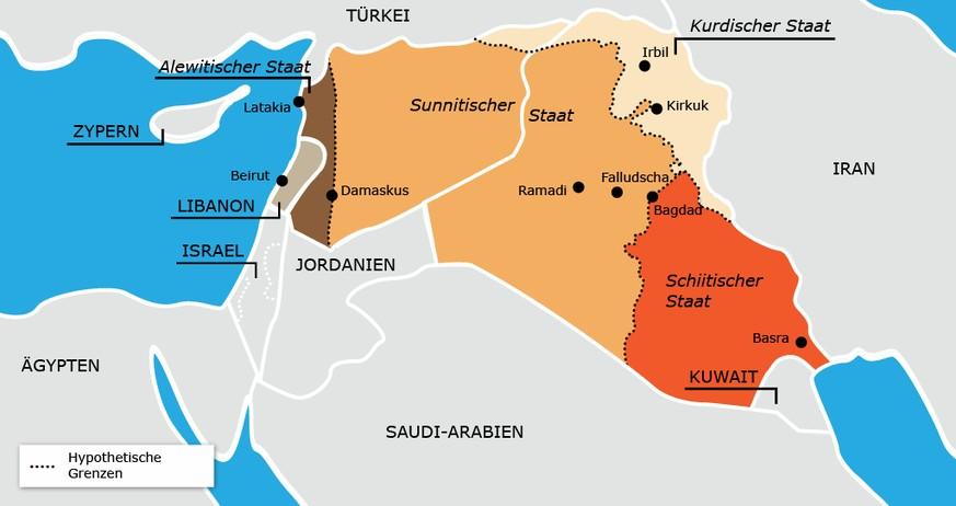 Karte Naher Osten Israel.Neue Grenzen Fur Den Irak Und Syrien Die 100 Jahrigen