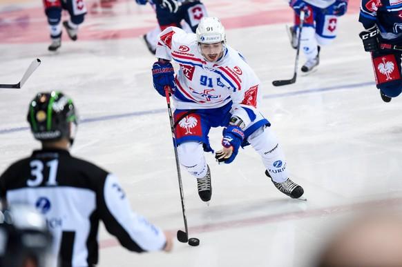 15.12.2014; Ambri; Eishockey Schweizer Cup - HC Ambri-Piotta - Kloten Flyers;Denis Hollenstein (Kloten) (Michela Locatelli/freshfocus)