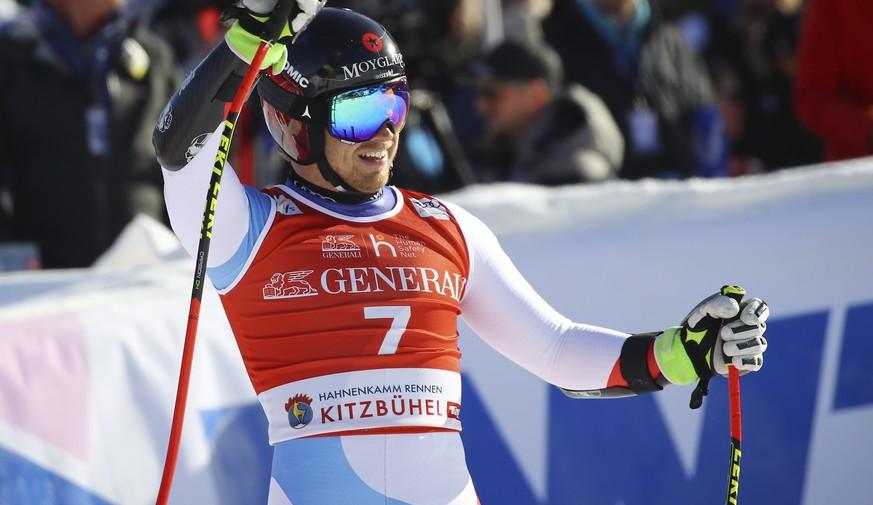 Caviezel und Feuz in den Top 7 – Jansrud gewinnt Super-G von Kitzbühel