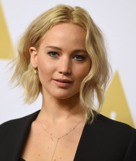 Jennifer Lawrence arrives at the 88th Academy Awards Nominees Luncheon at The Beverly Hilton hotel on Monday, Feb. 8, 2016, in Beverly Hills, Calif. (Photo by Jordan Strauss/Invision/AP)