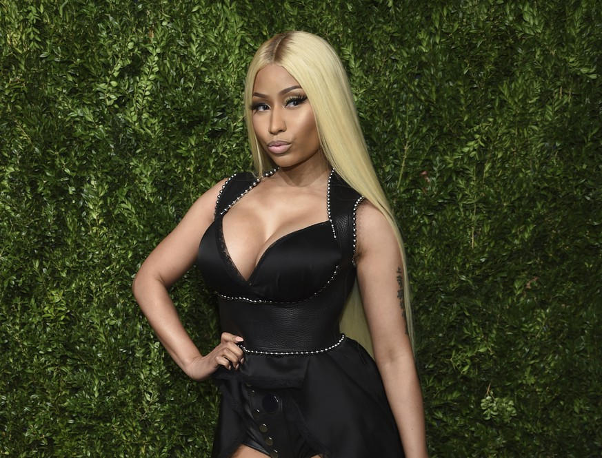 FILE - This Nov. 6, 2017 file photo shows Nicki Minaj at the 14th Annual CFDA Vogue Fashion Fund Gala in New York. Minaj is pulling out a concert in Saudi Arabia because she says she wants to show support for women's rights, gay rights and freedom of expression. She was originally scheduled to headline the concert on July 18, 2019. The Human Rights Foundation issued a statement last week, calling for Minaj and other performers to pull out of the show. (Photo by Evan Agostini/Invision/AP, File) Nicki Minaj