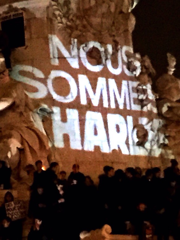 Bilder aus Paris nach dem Anschlag auf Charlie Hebdo.