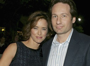 FILE - AUGUST 09: Actors David Duchovny and Tea Leoni have filed for divorce three years after announcing their separation. WESTWOOD, CA - DECEMBER 14:  Actress Tea Leoni and actor David Duchovny attend the Los Angeles premiere of Sony Pictures