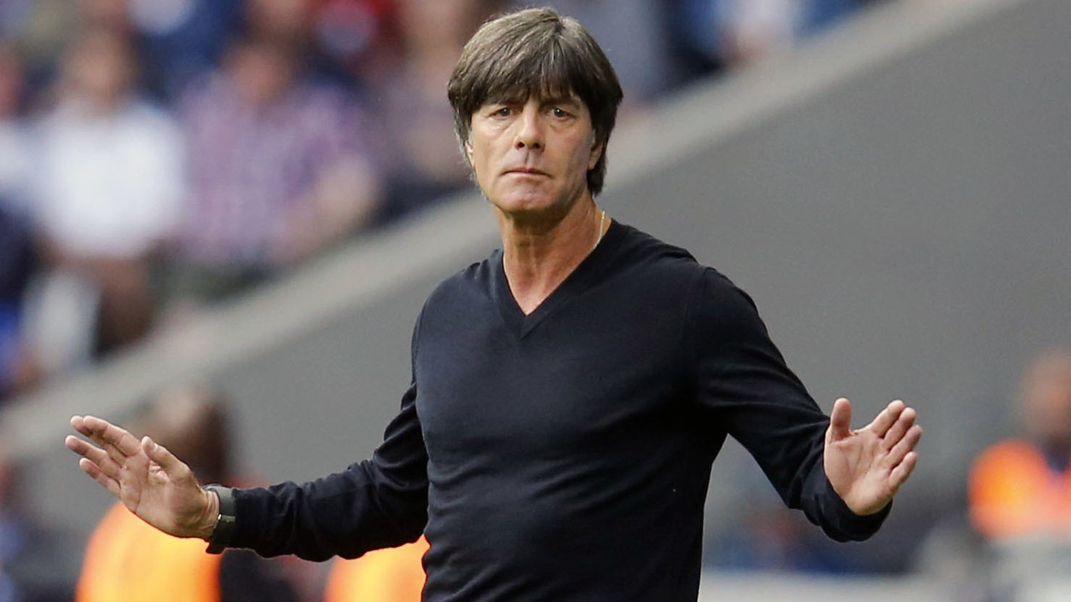 FILE - In this Sunday, June 26, 2016 file photo, Germany coach Joachim Loew gestures during the Euro 2016 round of 16 soccer match between Germany and Slovakia, at the Pierre Mauroy stadium in Villeneuve d'Ascq, near Lille, France. The Confederations Cup soccer tournament might have some fans around the world. If so, they should enjoy this one in Russia while they can. FIFA's eight-nation World Cup rehearsal for the host country, six continental champions and World Cup title-holder is no sure thing to survive for another edition.