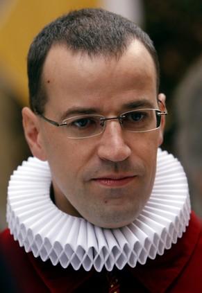 Scheidender Kommandant der Schweizergarde im Vatikan: Daniel Anrig. Bild: KEYSTONE - 1032508114150821