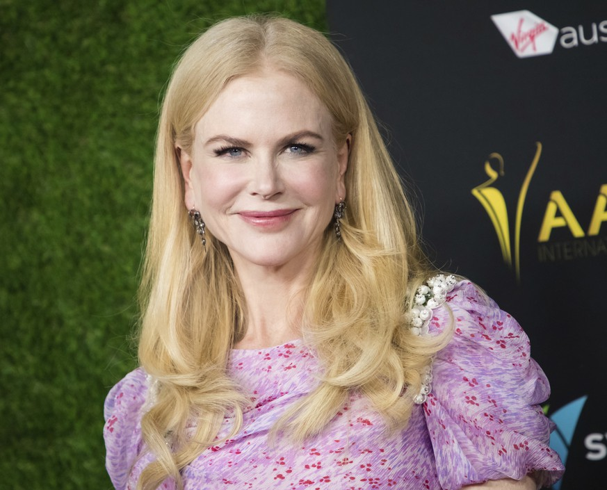 "FILE - In this Jan. 5, 2018 file photo, Nicole Kidman appears at the 7th annual AACTA International Awards in Los Angeles. Amazon Studios says it's signed a deal with Kidman and her production company for TV and movie projects. Under the ""first-look"" deal, Amazon and Kidman's Blossom Films will develop original series for Amazon Prime Video and big-screen films. (Photo by Vianney Le Caer/Invision/AP, File)"