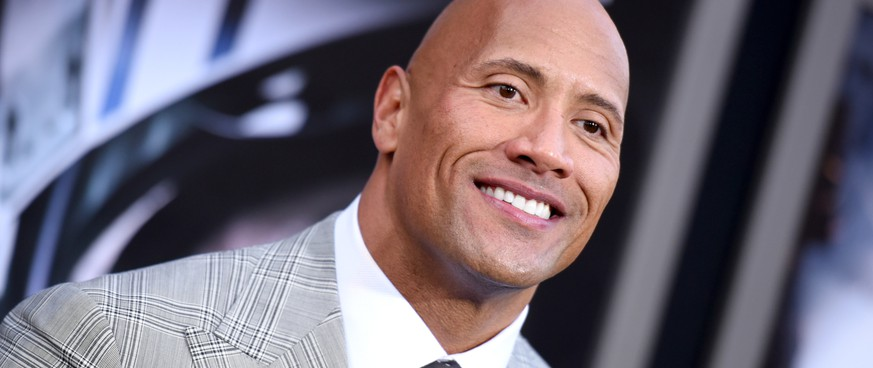 FILE - In this May 26, 2015 file photo, Dwayne Johnson arrives at the premiere of