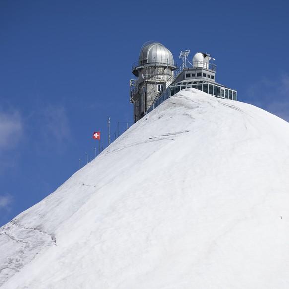 Das Sphinx-Observatorium auf dem Jungfraujoch, am Samstag, 15. August 2020. (KEYSTONE/Peter Klaunzer)