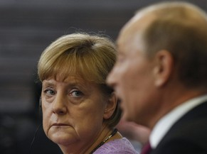 Russia's President Vladimir Putin (R) and Germany's Chancellor Angela Merkel attend a news conference after their meeting at the St. Petersburg International Economic Forum in St. Petersburg in this June 21, 2013 file picture. Unlike presidents in Washington, the German chancellor has never harboured any illusions about the former Soviet agent, nor hopes that she might change him. It is this hard-nosed realism, born of Merkel's own experience growing up in a Soviet garrison town in East Germany and reinforced over a turbulent 14-year relationship with Putin, that has earned her respect in the Kremlin and thrust her into the potentially risky role of chief mediator in the Ukraine crisis. To match Insight MERKEL-PUTIN/ REUTERS/Alexander Demianchuk/Files (RUSSIA - Tags: BUSINESS POLITICS)