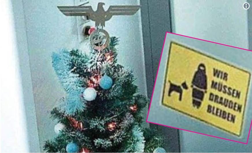 afd weihnachtsbaum mit nazi adler geschm ckt watson. Black Bedroom Furniture Sets. Home Design Ideas