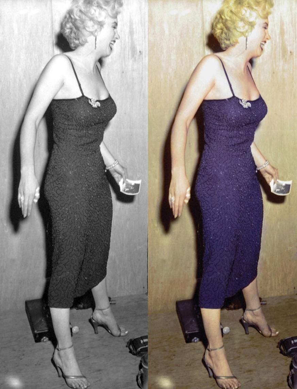 Mit ein wenig farbe wird diesen historischen fotos neues for Leben mit wenig besitz