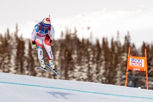 Beat Feuz (SUI) waehrend dem 2. Abfahrtstraining der Herren am Dienstag, 13. Maerz 2018, anlaesslich des FIS Ski Alpin Weltcupfinale in Aare. (KEYSTONE/APA/EXPA/JOHANN GRODER)
