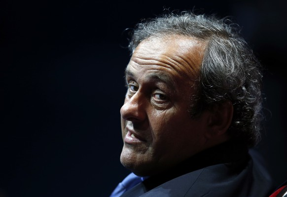 UEFA President Michel Platini is seen during the draw ceremony for the 2014/2015 Champions League soccer competition at Monaco's Grimaldi Forum in Monte Carlo August 28, 2014. Platini ruled himself out of the running for the most powerful job in football on Thursday, saying he