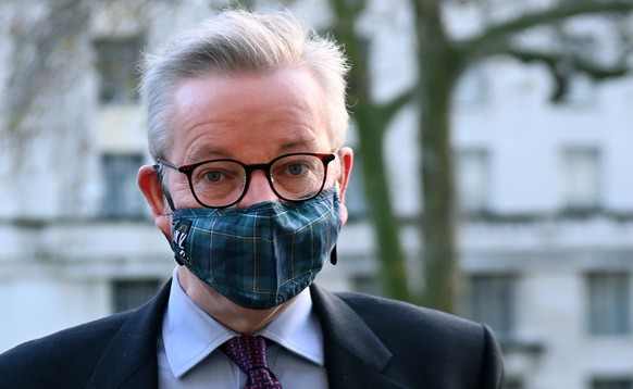 epa08883215 British Chancellor of the Duchy of Lancaster Michael Gove arrives at the Cabinet Office in London, Britain, 14 December 2020. The UK and EU governments have said they want 'to go the extra mile' in a new push to reach an agreement on post-Brexit trade.  EPA/ANDY RAIN