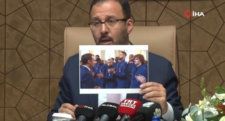 Türkischer Sportminister rechtfertigt Militärgruss mit Griezmann-Foto